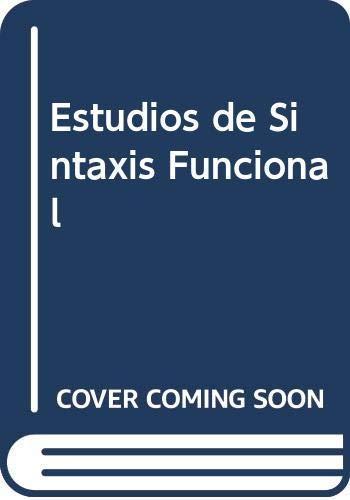 9788424907778: Estudios de Sintaxis Funcional (Spanish Edition)