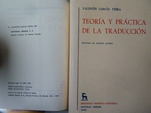 9788424909444: Teoria y practica de la traduccion 2 tomos