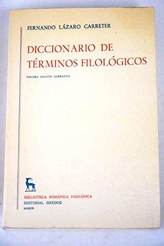 9788424911126: Diccionario De Términos Filológicos