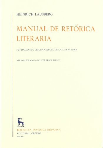 9788424911454: Manual de retorica literaria/ Manual of Rhetorical Literature (Spanish Edition)