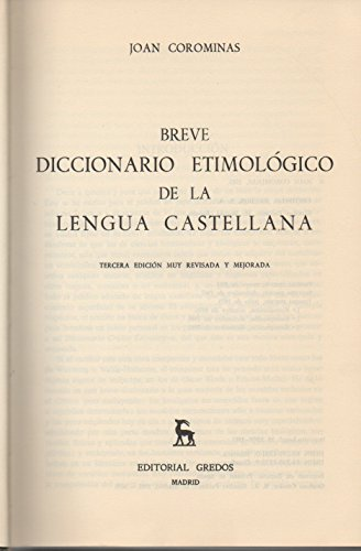Etymological dictionaries