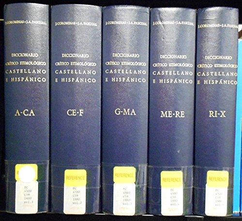 9788424913625: Diccionario critico etimologico castellano e hispanico, 6 vols. (Biblioteca románica hispánica. V. Diccionarios)