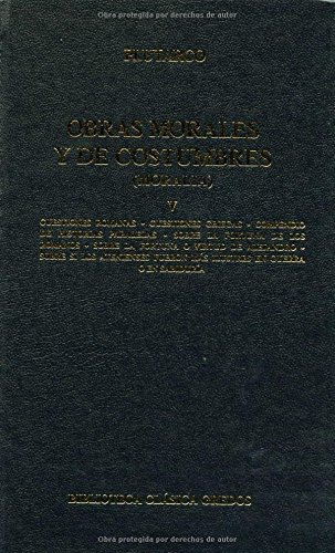 9788424914042: Obras morales y costumbres V / Moralia (Spanish Edition)