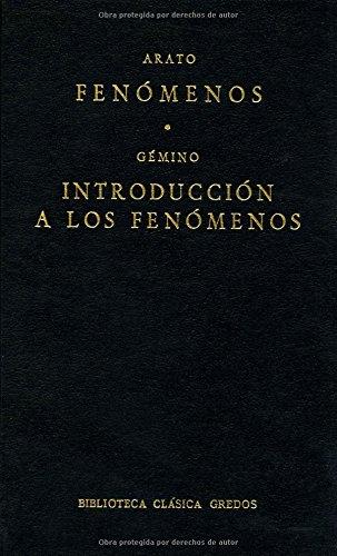 9788424916121: Fenomenos introduccion a fenomenos (B. CLÁSICA GREDOS)