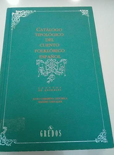 9788424916732: Catalogo tipologico cuento español (mara: Cuentos maravillosos (VARIOS GREDOS)