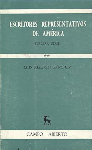 Escritores Representativos de América : Tercera Serie: Sanchez, Luis Alberto