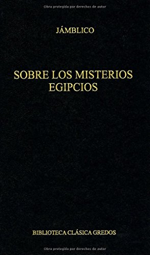 9788424918705: Sobre los misterios egipcios / On the Egyptian Mysteries (Spanish Edition)