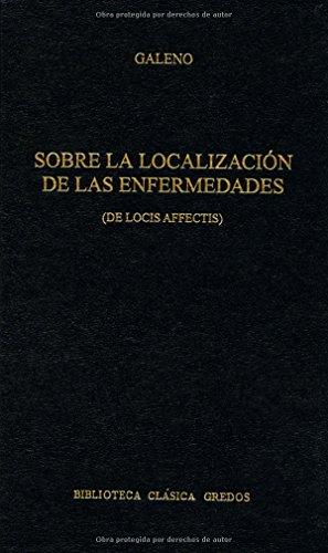 9788424918880: Sobre la localizacion enfermedades (B. CLÁSICA GREDOS)