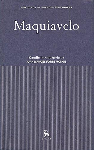 9788424919115: Maquiavelo / Machiavelli (Spanish Edition)