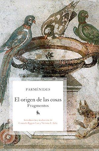9788424920951: El origen de las cosas: Fragmentos (B. BÁSICA GREDOS)