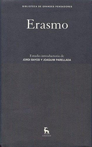 9788424921262: Erasmo (GRANDES PENSADORES)