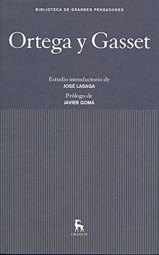 9788424923327: Ortega y gasset (GRANDES PENSADORES)