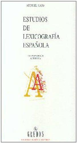9788424923464: Estudios lexicografia española (VARIOS GREDOS)