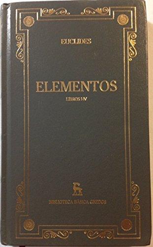 9788424925024: ELEMENTOS Libros I-IV