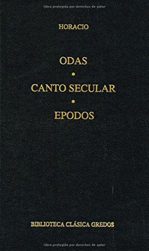 9788424928797: Odas, Canto Secular y Epodos