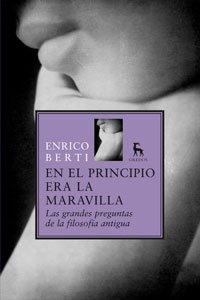 9788424935818: EN EL PRINCIPIO ERA LA MARAVILLA