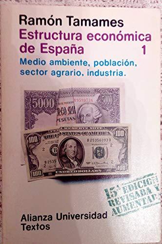 9788425101298: ESTRUCTURA ECONOMICA DE ESPAÑA - 3 Volumenes
