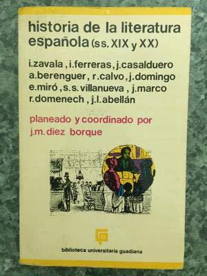 Historia de la literatura española. Volumen III: VV.AA. ; Planeado