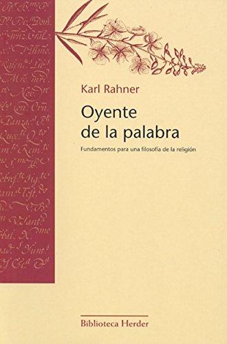 9788425403453: Oyente de la palabra: Fundamentos para una filosofía de la religión (Biblioteca Herder)