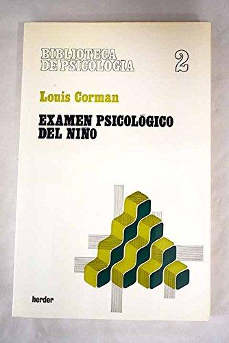 9788425405693: Examen psicologico del Niño, el