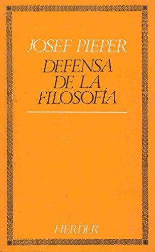 9788425408069: Defensa de la filosofia (Spanish Edition)