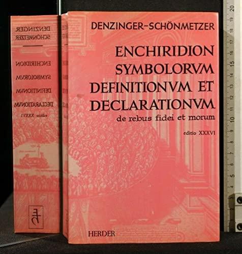 Enchiridion symbolorum definitionum et declarationum de rebus: Denzinger-Schönmetzer