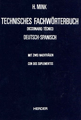 9788425409943: Dicc. Tecnico Aleman/español
