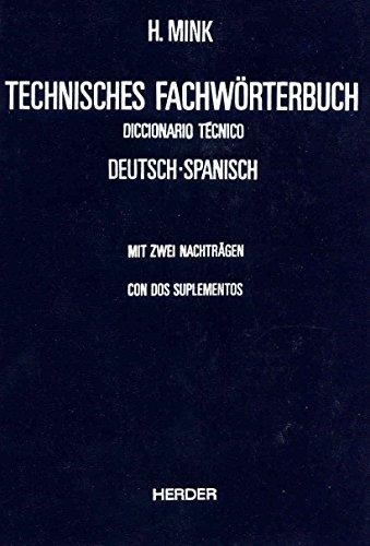 9788425409943: Technisches Fachworterbuch Diccionario Tecnico Band I Deutsch-Spanisch Tomo I Aleman-Espanol Con Dos Suplementos (German and Spanish Edition)