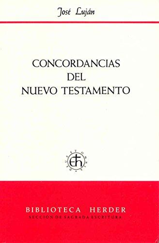 9788425410185: Concordancias del Nuevo Testamento
