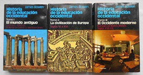 9788425410253: Historia de la educacion occidental, 3 vols.