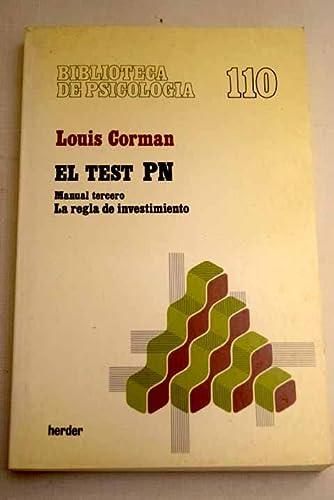 TEST PN, EL. (MANUAL TERCERO): LOUIS, CORMAN
