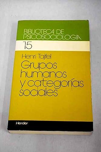 9788425414091: GRUPOS HUMANOS Y CATEGORIAS SOCIALES