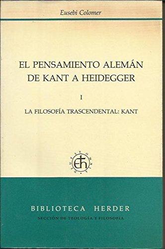 9788425415180: Pensamiento Alemán de kant a heidegger 3 vols. (o.c.)