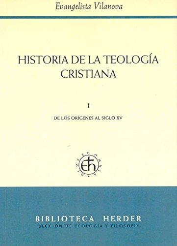 9788425415531: Historia de la teología cristiana. Tomo I