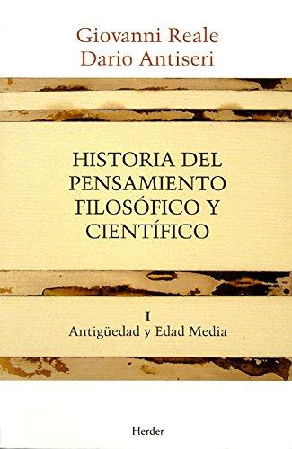 9788425415876: Historia del pensamiento filosofico y cientifico, vol. I: Antiguedad y Edad Media