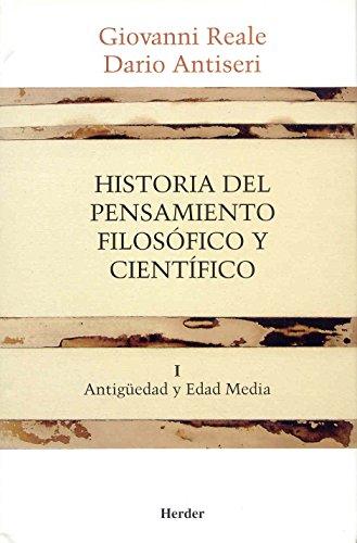 9788425415883: Historia Del Pensamiento Filosofico Y Cientifico 1