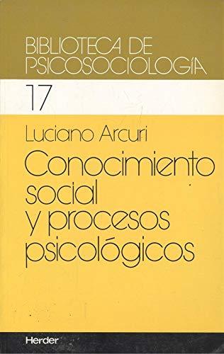 9788425416118: Conocimiento social y procesos psicologicos