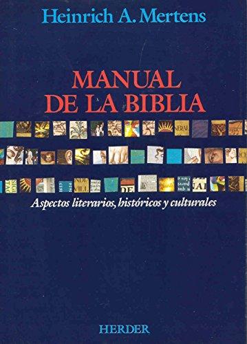 9788425416378: Manual de la Biblia