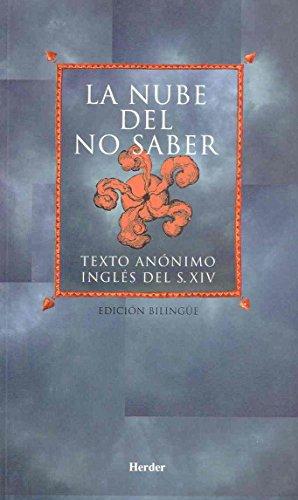 9788425420542: La nube del no saber: Texto anónimo inglés del siglo XIV