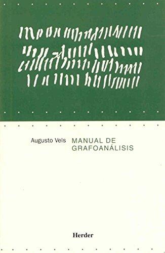 Manual de grafoanálisis: Augusto Vels