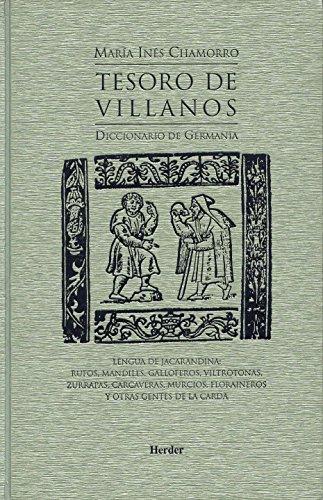 9788425422201: Tesoro de Villanos: Diccionario de Germanía