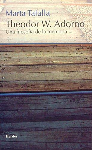 9788425423154: Theodoro W. Adorno (Spanish Edition)