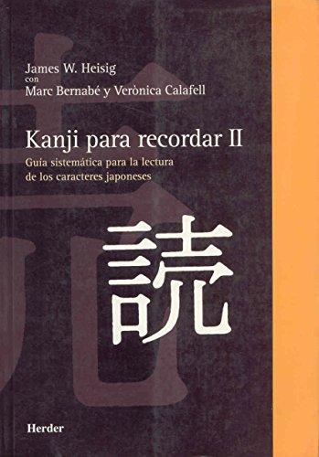 9788425423734: Kanji para recordar, II (Spanish Edition)