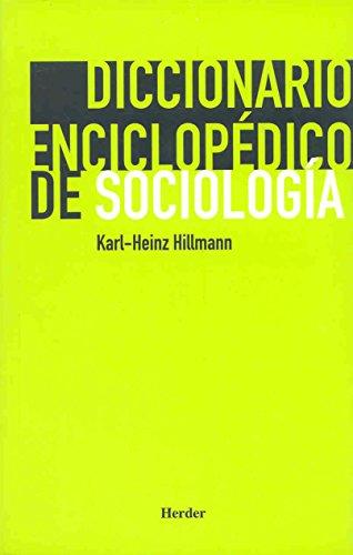 9788425424304: Diccionario enciclopédico de sociología