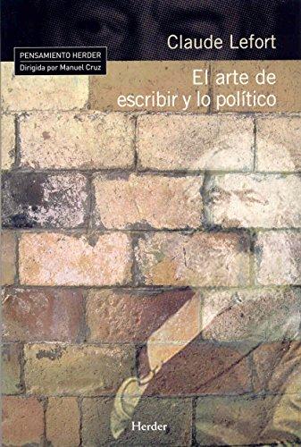 9788425424953: El arte de escribir y lo político (Pensamiento Herder)