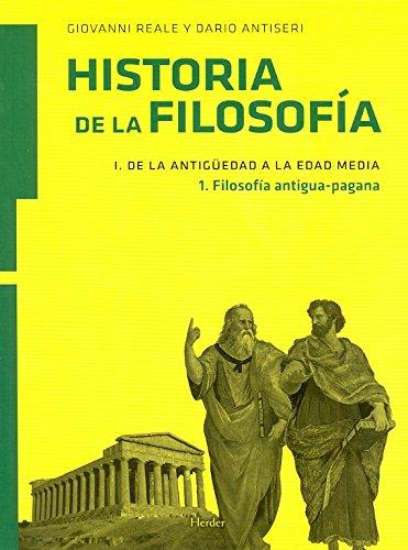 9788425426148: Historia de la filosofía I. De la Antigüedad a la Edad Media: filosofía antigua-pagana