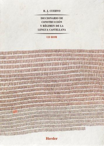 9788425426247: Diccionario de construcción y régimen de la lengua castellana 8 tomos (A-Z) + CD-Rom
