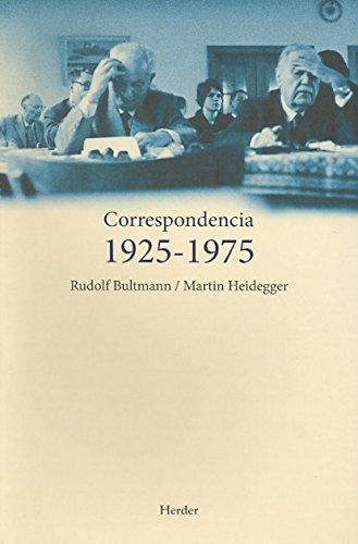 9788425426513: Correspondencia 19251975. Rudolf Bultmann/Martin Heidegger