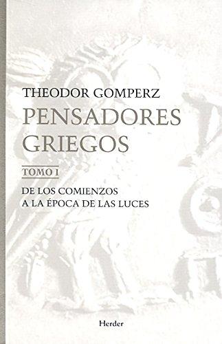 Pensadores griegos. (3 Vols): Gomperz, Theodor
