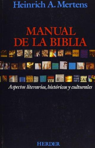 9788425427473: Manual de la Biblia